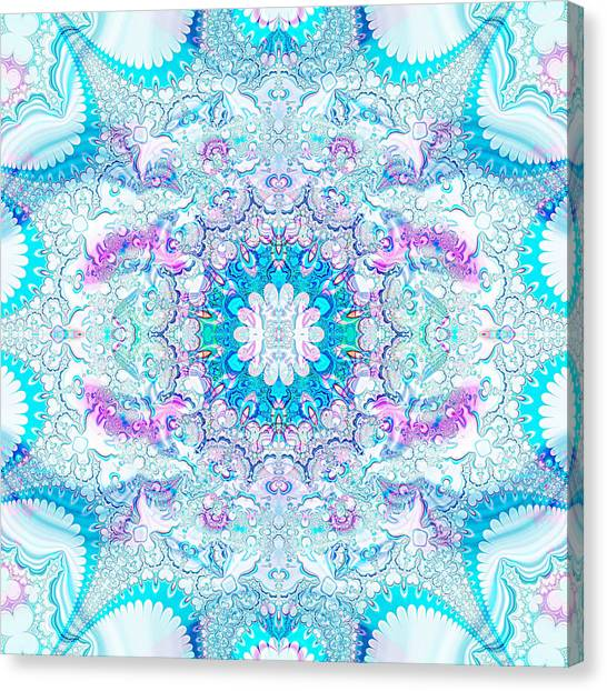 Canvas Print featuring the digital art Lacy Mandala by Bee-Bee Deigner