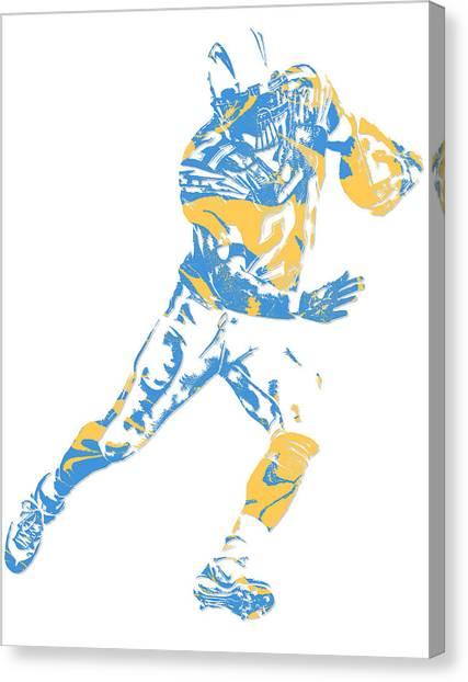 Los Angeles Chargers Canvas Print - Ladainian Tomlinson San Diego Los Angeles Chargers Pixel Art 1 by Joe Hamilton