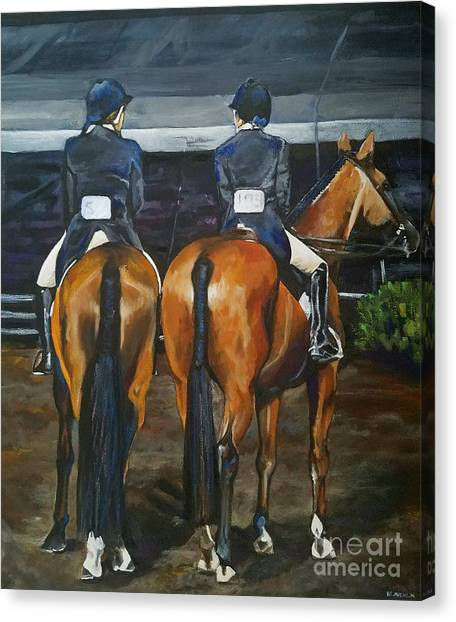 Ladies At Sussex Hunt Night Canvas Print