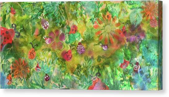 Ladies Garden Retreat Canvas Print