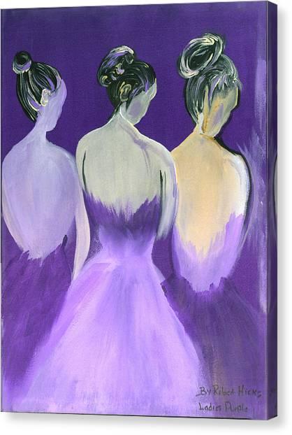 Ladies In Purple Canvas Print by Robert Lee Hicks