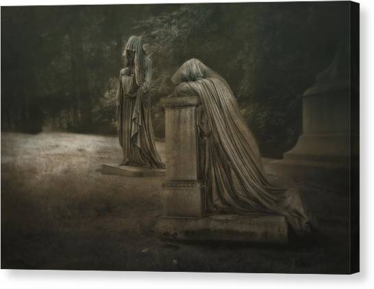Virgin Mary Canvas Print - Ladies Of Eternal Sorrow by Tom Mc Nemar
