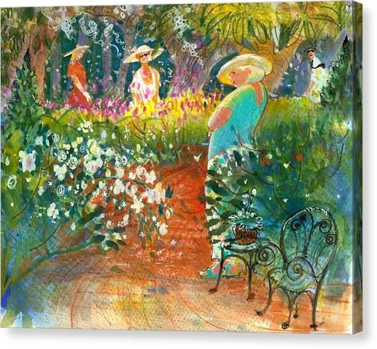 Ladies Of The Garden Canvas Print
