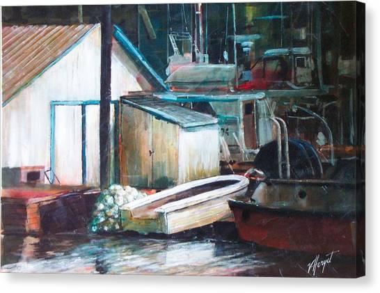 Ladner Harbour Canvas Print by Victoria Heryet