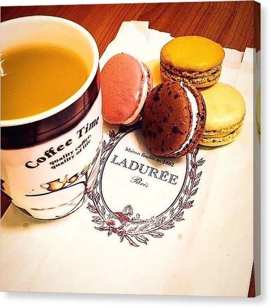 Tea Time Canvas Print - #laduree #paris #macarons #english #tea by Vincenzo Scrofano