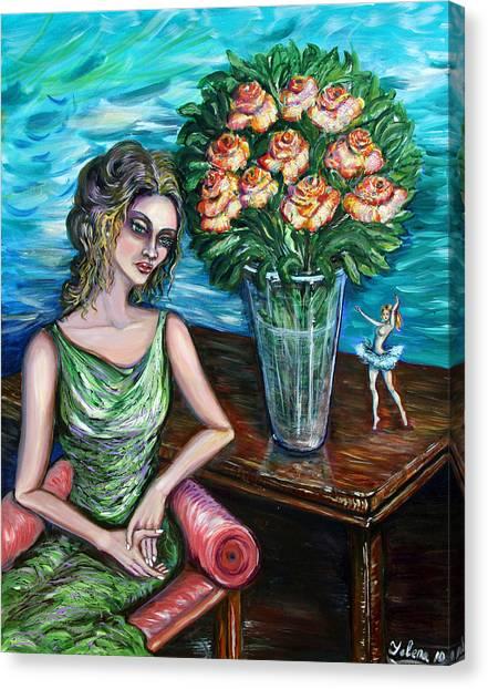 Lady Ballerina Canvas Print
