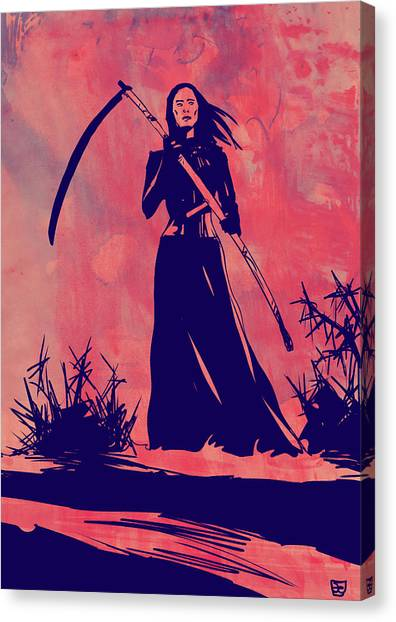 Death Canvas Print - Lady D by Giuseppe Cristiano