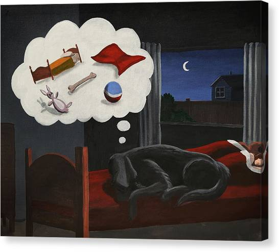 Lady Dreams About Her Favourite Things Canvas Print
