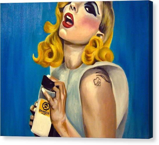 Lady Gaga Commission Canvas Print by Emily Jones