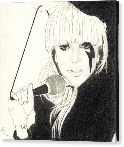 Lady Gaga Canvas Print by Josh Bennett