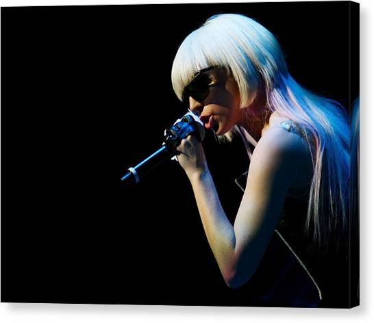 Microphones Canvas Print - Lady Gaga by Super Lovely