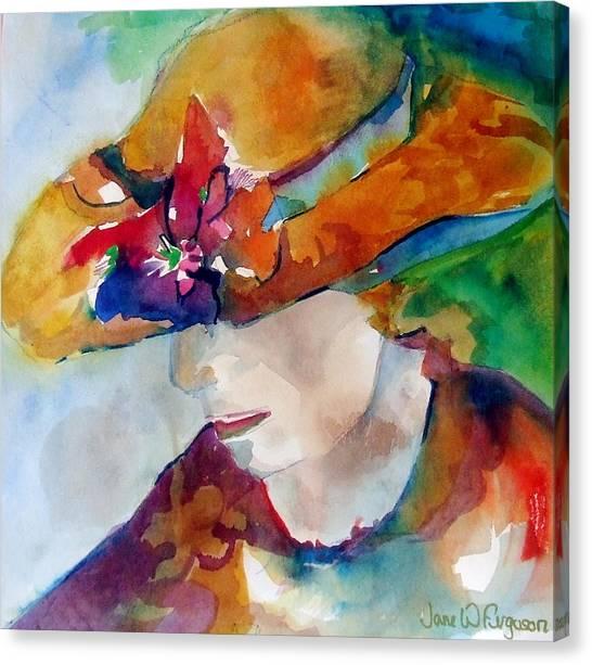Canvas Print - Lady Hat Series  by Jane Ferguson