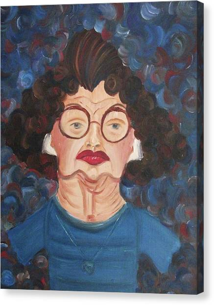 Lady In Blue Canvas Print by Suzanne  Marie Leclair