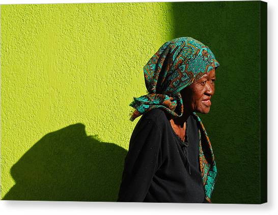 South Africa Canvas Print - Lady In Green by Skip Hunt