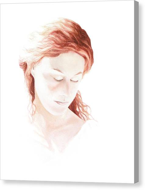 Lady In Light Canvas Print