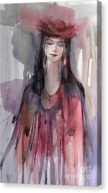 Canvas Print - Lady In Red by Natalia Eremeyeva Duarte