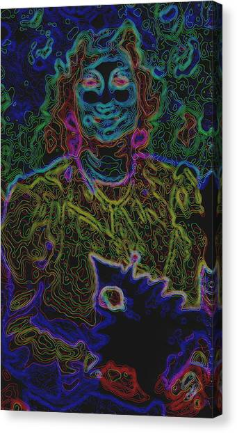 Lady In Smiles Canvas Print