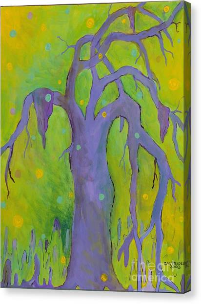 Lady In The Tree Canvas Print