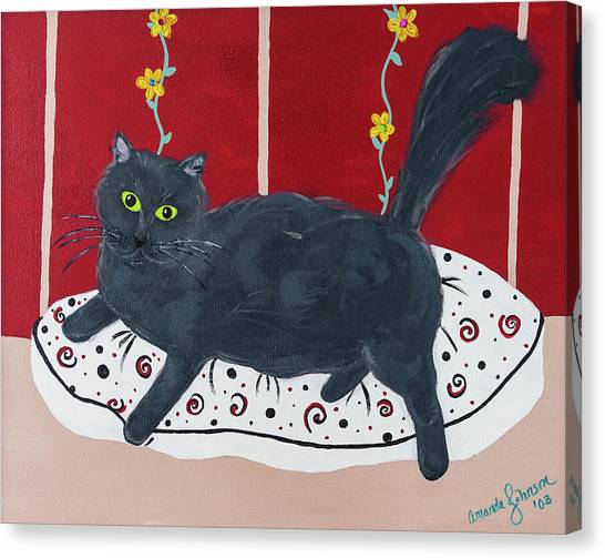 Lady Kitty Canvas Print