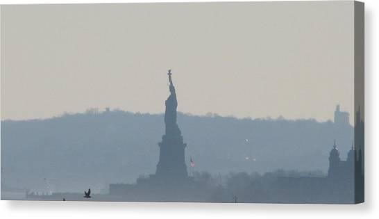 Lady Liberty A Canvas Print by Hasani Blue