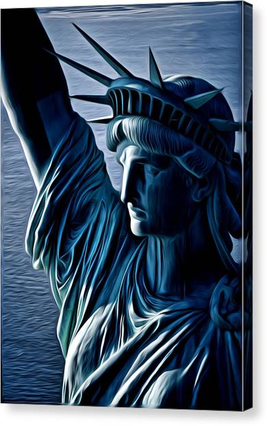 Lady Liberty Canvas Print by Kevin  Sherf