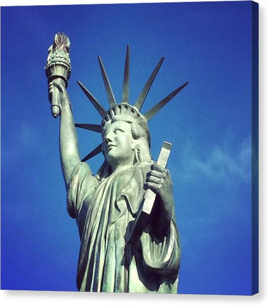 Seattle Canvas Print - Lady Liberty #seattle #travel by Joan McCool