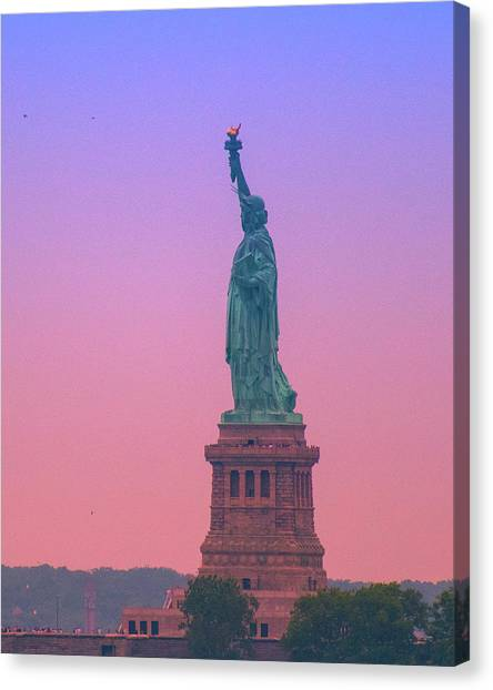 Lady Liberty, Standing Tall Canvas Print