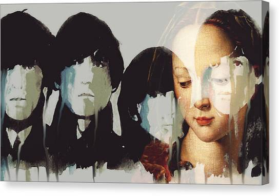 Old Masters Canvas Print - Lady Madonna Children At My Feet  by Paul Lovering