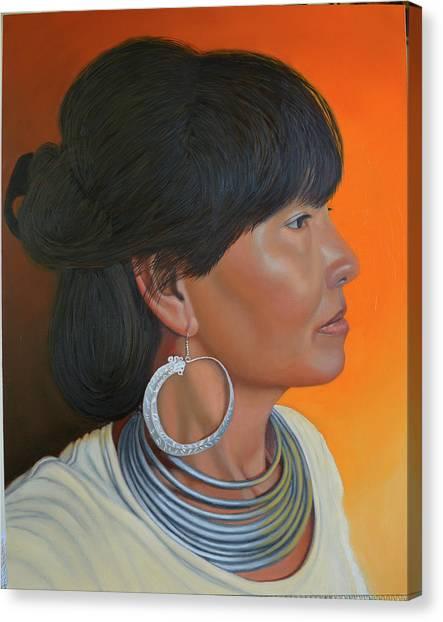 Lady Of Sapa Canvas Print