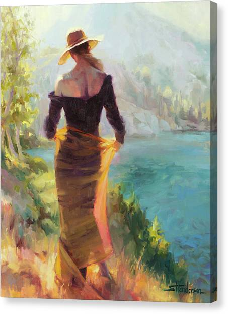 Lady Canvas Print - Lady Of The Lake by Steve Henderson