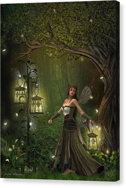 Lady Of The Lanterns Canvas Print
