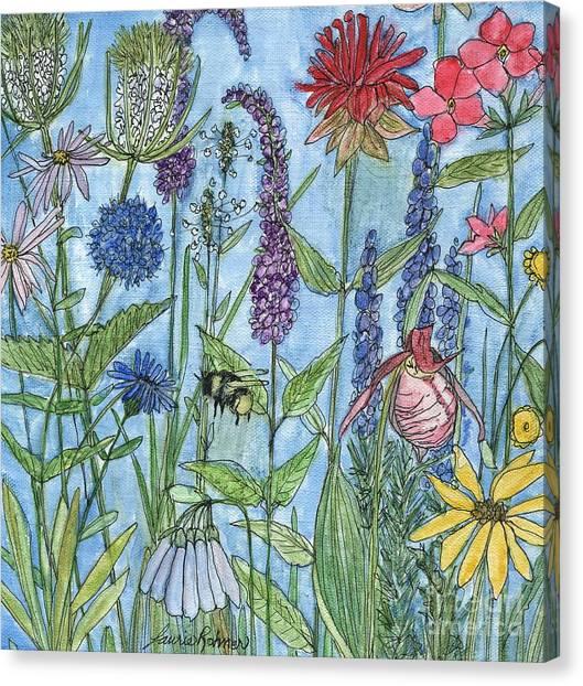 Lady Slipper In My Garden  Canvas Print