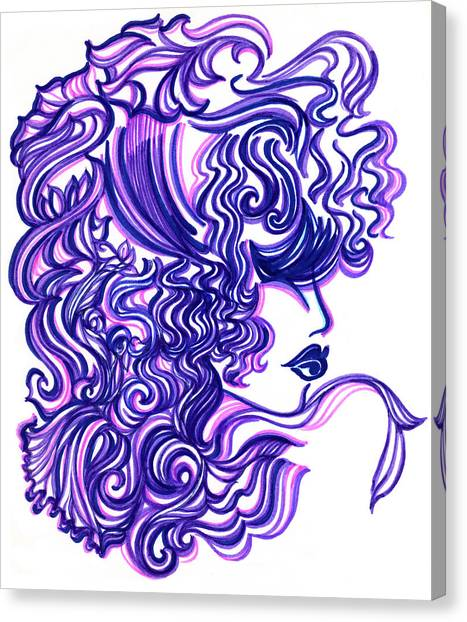 Lady Violet Canvas Print by Judith Herbert