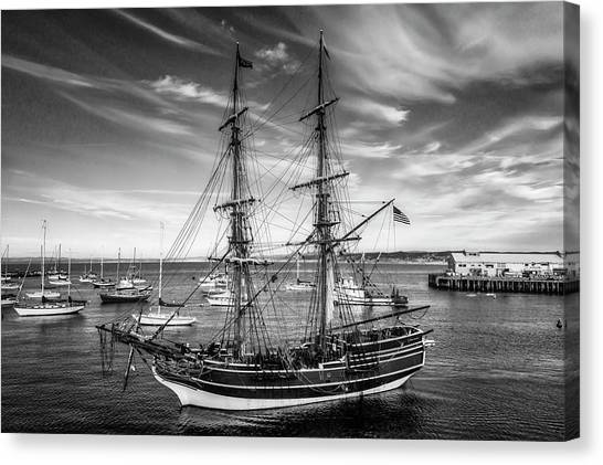 Gay Flag Canvas Print - Lady Washington In Black And White by Garry Gay