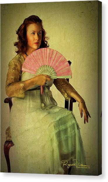 Lady With A Fan Canvas Print
