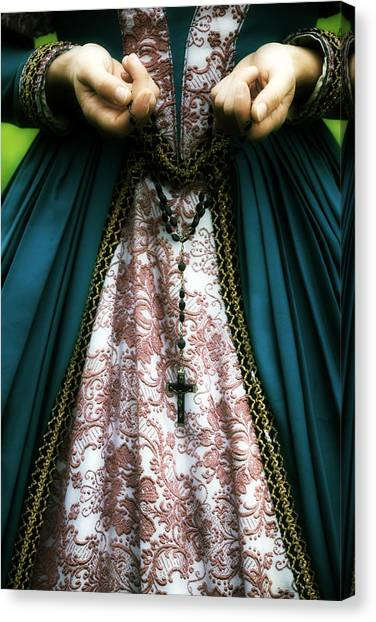 Rosaries Canvas Print - Lady With Rosary by Joana Kruse
