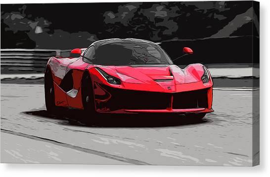 La Ferrari Canvas Print by Andrea Mazzocchetti