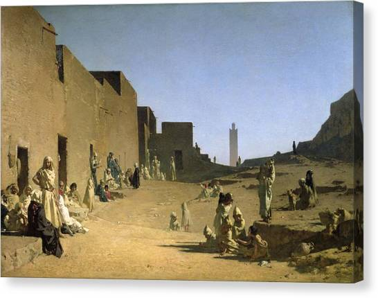 Arabian Desert Canvas Print - Laghouat In The Algerian Sahara by Gustave Caillebotte