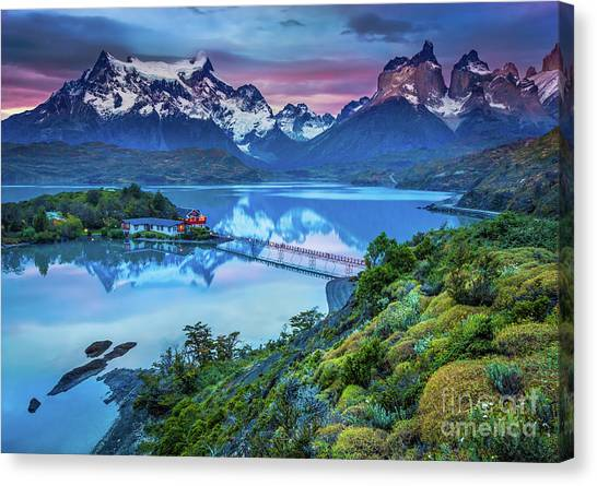 Andes Mountains Canvas Print - Lago Pehoe - March by Inge Johnsson