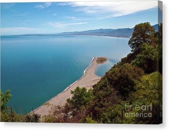 Lagoon Of Tindari On The Isle Of Sicily  Canvas Print