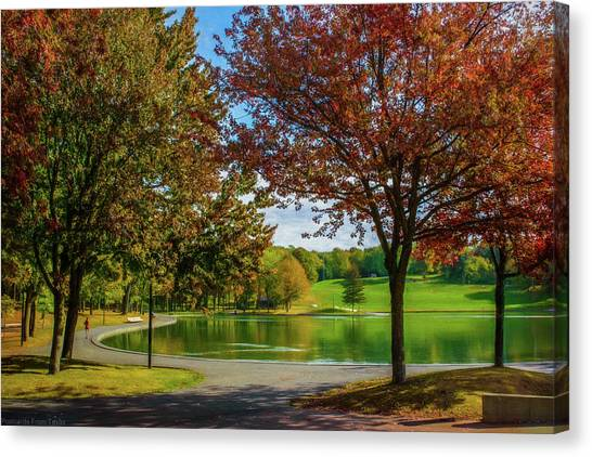 Lagoon Park In Montreal Canvas Print