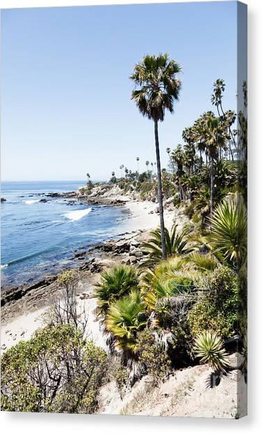 Beach Cliffs Canvas Print - Laguna Beach California Heisler Park by Paul Velgos