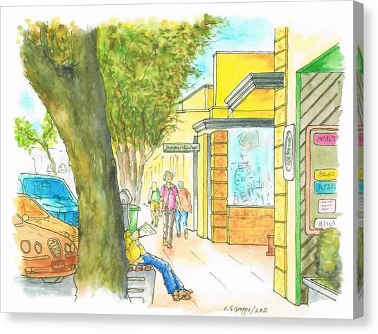 Laguna-beach-california-street Canvas Print by Carlos G Groppa