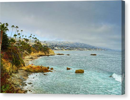 Laguna Beach Coastline Canvas Print