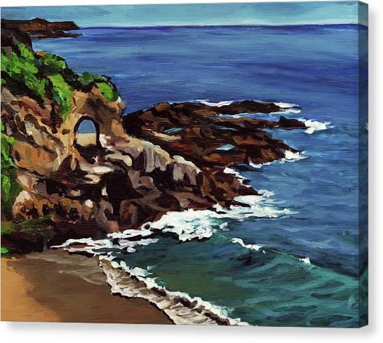 Laguna Beach En Plein Air Canvas Print by Signature Laurel