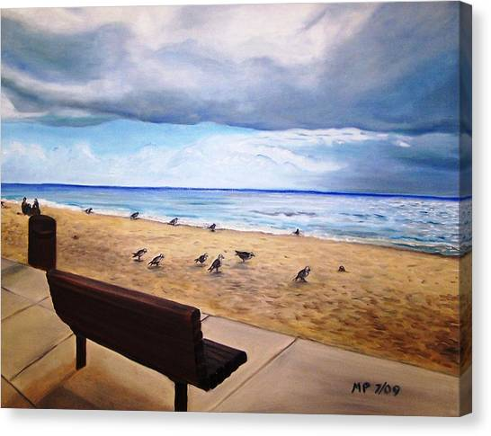 Laguna Beach On A Stormy Day Canvas Print by Madeleine Prochazka