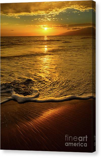 Ocean Sunsets Canvas Print - Lahaina Glow by Jamie Pham