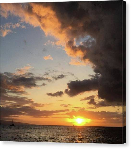 Sunset Canvas Print - Lahaina Sunset! Love Friday Nights! by Darice Machel McGuire