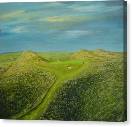 Lahinch Eighth Hole Canvas Print by Eamon Doyle