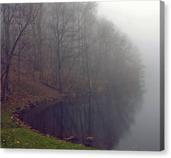 Lake Abbott Fog Canvas Print